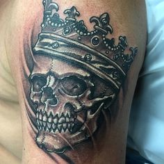 #Skull #Crown #Smoke #BlackandGray done by @janosmasz @miamiinklovehate