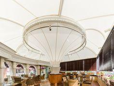 Modern Elahie Restaurant Roof Cover, 80 sqm  #dibats #tensilestructure #architecture #سازه_های_پارچه_ای_دیبا #ديبا