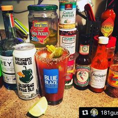 Because we all want to be like this guy... #Repost @181gusto ・・・ Sunday Funday #bloodymary #sundayfunday #thecure #weekendgoals #squadgoals