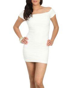 Textured Bodycon Dress (White). Wet Seal. $32.50