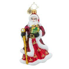 "Christopher Radko Santa Ornament - ""Ruby Regalia"""
