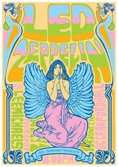 LED ZEPPELIN - 1 May 1969 Irvine - live show artistic concert poster , affiche, cartaz, cartel on Etsy, $13.27