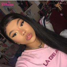High Quality Yolissa Products 1pc Ear To Ear Lace Frontal Closure Totally Hand Made Pre-Plucked Hairline With Baby Hair 3 Bundles #yolissa #brazilian #straighthair #humanhair #virginhair