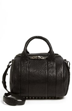 Alexander+Wang+'Rockie+-+Black+Nickel'+Leather+Crossbody+Satchel+available+at+#Nordstrom