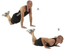 kneeling push ups