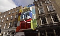 Watch the making of 'Architecture, Reimagined' by Studio Aisslinger. 19 Greek Street's six-floor Soho townhouse is currently dressed in a colourful frock of textiles from Kvadrat