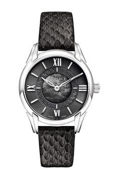 Women's Dafne Leather Strap Watch