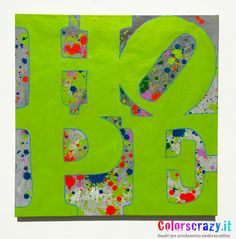 Quadro moderno Hope dipinto a mano su tela - Design Colorscrazy - Acquista online su www.colorscrazy.it