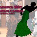 flamenco skirt pattern