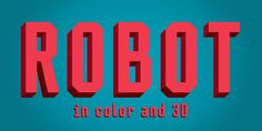 Check out the Mr Robot font at Fontspring. Mr Robot is a typeface designed for our next book for children.