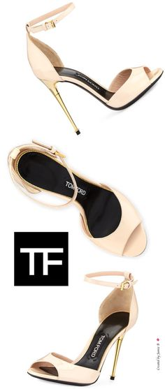Pre Fall 2015   Tom Ford   Patent Ankle-Wrap d'Orsay Sandal   Jamie B