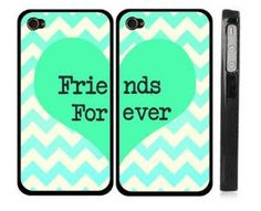 Amazon.com: Best Friends iphone 4 Case - Set of Two Friends Forever iPhone 4s Case / Cover: Cell Phones & Accessories