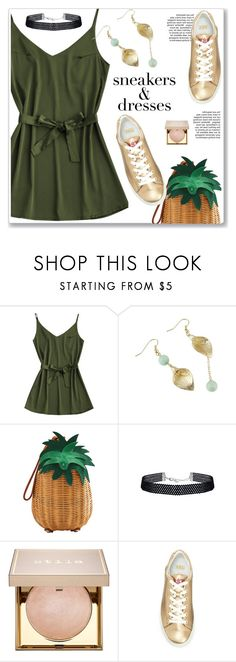 """sneakers & dress"" by paculi ❤ liked on Polyvore featuring MANGO and Stila"