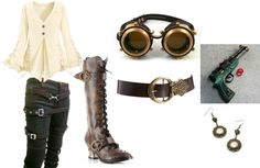"""steampunk casual"" by napalmvanity on Polyvore"