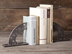 Bookends made of motorcycle parts Metal Projects, Used Parts, Motorcycle Parts, Bookends, Great Gifts, Handmade Items, Automobile, Etsy, Anime