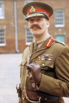 Stephen Fry as General Melchett in Blackadder Goes Forth