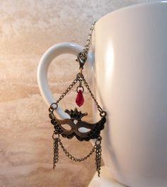 Bronze Mardi Gras Tea Infuser Charm-Antique by CamilleLaLune