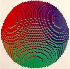 Zonder titel, 1972  Kunstenaar: Jan Slothouber en William Graatsma  zeefdruk  70 x 70 cm (90 x 90 cm)