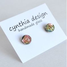 dichro stud earring Place Cards, Place Card Holders, Stud Earrings, Glass, Handmade, Design, Art, Art Background, Hand Made
