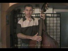 Learning how to play slap bass - Lesson 4 Double Bass, Rockabilly, Learning, Youtube, Mens Tops, Studying, Teaching, Youtubers, Youtube Movies