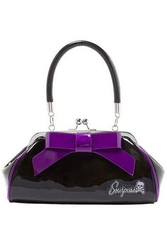 Sourpuss Floozy Purse - Purple Front View