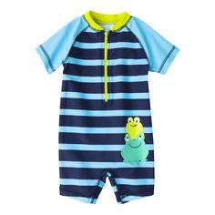 Just One You by Carters Infant  Boys Rashguard Bodysuit Swimwear