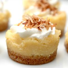 Mini Key Lime Cheesecakes - i've made these for christmas gifts for the neighbors along with two other types.  The mini key lime was the hit! One neighbor even made them for her wedding after trying them.