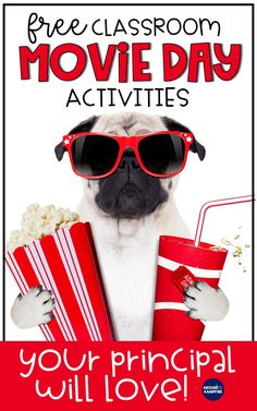 Fun classroom movie day ideas that are educational! Ideal for first, second, and third grade kids that are both fun and educational. Your students will love the FREE movie day math and reading menus in this post as they use the movie they are watching to review important skills. These movie day activities are ideal for 1st, 2nd, and 3rd grade teachers to keep students engaged and still learning long after the movie is over!