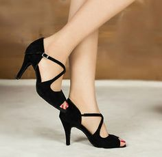 Black-Suede-Ballroom-Shoes-Salsa-Latin-Dance-Shoes-Tango-Shoes-Bachata-Shoe