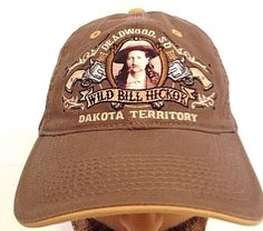 Deadwood, SD  LEGENDS WILD BILL HICKOCK CAP HAT ADJUSTABLE STRAP! Brown #HaT