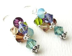 Crystal Lantern Earrings - Mojito