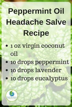 Make your own peppermint oil headache relief salve with this simple diy essentia.,Make your own peppermint oil headache relief salve with this simple diy essentia. Essential Oils For Headaches, Young Living Essential Oils, Essential Oil Diffuser, Essential Oil Blends, Migraine Essential Oil Blend, Diy With Essential Oils, Essential Ouls, Salve Recipes, Doterra Recipes