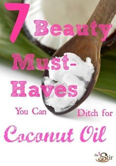 7 amazing beauty fixes using coconut oil http://thestir.cafemom.com/beauty_style/161267/7_beauty_products_you_can?utm_medium=sm&utm_source=pinterest&utm_content=thestir