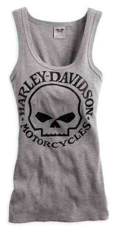 eb6a25e6648ee Free shipping over  99 - Harley-Davidson Women s Skull Scoop Neck Tank