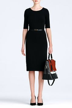 Keep it simple and sleek with the sophisticated Meeson dress. http://on.dvf.com/1eLkmXu