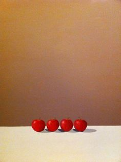 Four red apples from The Collection by Trevor Rowe