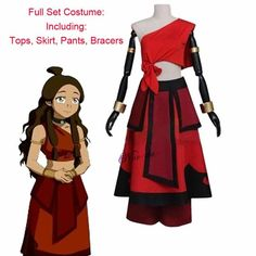 New Anime Avatar the last Airbender Katara Cosplay Costume And Wig For Carnival Halloween Party - Avatar Katara 1 / S / Avatar Katara