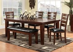 Cutest for entertaining! Casual Dining Room Furniture-The Mayfield Collection-Mayfield Table Dining Room Sets, Dining Table Chairs, Dining Room Furniture, Home Furniture, Indoor Picnic, Patterned Carpet, Sweet Home, Decorating Ideas, Home Decor
