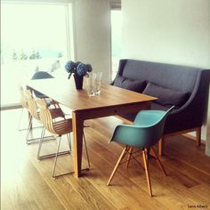 dining room with couch vitra eames chair sofa dinning table starting point pinterest