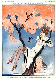 La Vie Parisienne 1920s France Zyg Drawing