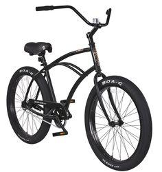 097faa37e4e Newport DLX cruiser bicycle in matte black with black rims. Cruiser Bicycle