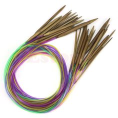 18Pairs-47-120cm-Multicolor-Tube-Circular-Carbonized-Bamboo-Knitting-Needles