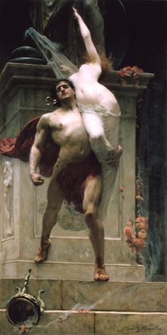The iridescence of her skin is breathtaking. I love this style.    Ajax and Cassandra, 1886, Solomon J. Solomon (1860-1927)