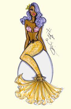 #Hayden Williams Fashion Illustrations #Pin-Up Mermaids by Hayden Williams pt3