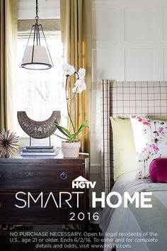 HGTV Smart Home 2016 could be yours! Enter for a chance to win this stunning tech-smart home in North Carolina, + a new car and cash! >> http://www.hgtv.com/design/hgtv-smart-home/sweepstakes
