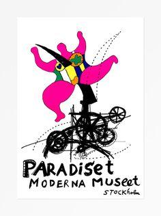 """© Niki de Saint Phalle. Omtryck av affischen """"Paradiset"""" troligen 1986. ©2010 Niki Charitable Art Foundation/ADAGP/BUSStorlek: 70 x 100"""