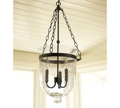 Shop glass lantern chandelier from Pottery Barn. Our furniture, home decor and accessories collections feature glass lantern chandelier in quality materials and classic styles. Chandelier Makeover, Lamp Makeover, Lantern Chandelier, Hanging Lanterns, Lantern Pendant, Pendant Lamp, Pendant Lights, Lantern Lighting, Foyer Chandelier