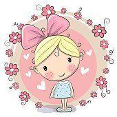 Menina e flores