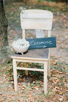 ceremony chalkboard sign #weddingceremony #chalkboardsign #weddingchicks http://www.weddingchicks.com/2014/04/22/breezy-beautiful-picnic-wedding/