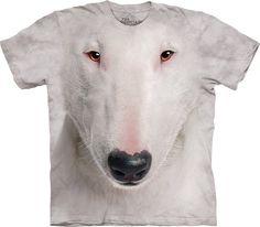 Bull Terrier Face T-Shirt-XL White